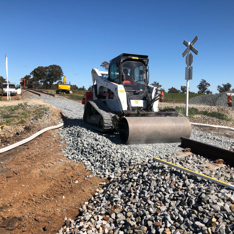 Road crossing upgrade during the Southern ARTC super shutdown